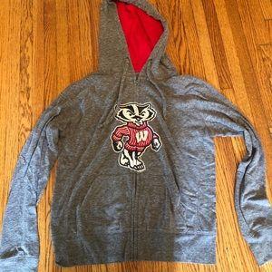 wisconsin hoodie zip up